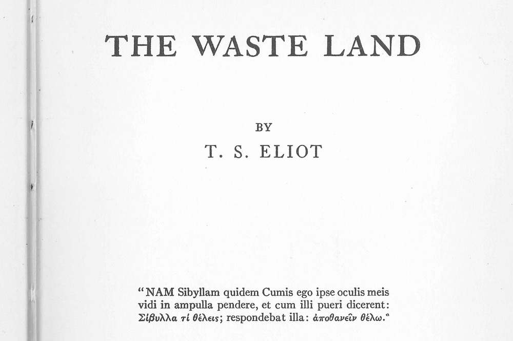 t s eliots the wasteland essay